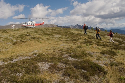 Heli hiking - Crédit photo Tourism British Columbia, Albert Normandin