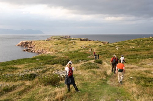 Hikers participate in Hike the Highlands Festival at White Point in northern Cape Breton Island - Credit Photo Nova Scotia Tourism