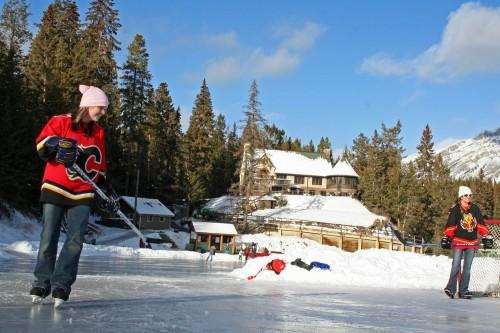Hockey - Parc National de Banff - Crédit photo Canadian Tourism Commission