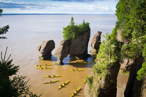Hopewll Rocks Kayak - Credit Photo Tourisme Nouveau-Brunswick, Canada