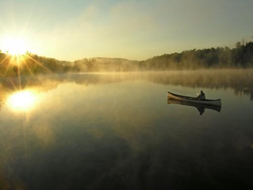 Lac canot - Crédit Photo M. Julien Tourisme Mauricie