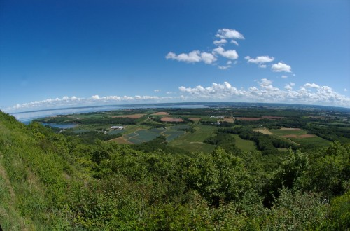 Panoramic views from The Lookoff near Canning in Nova Scotia's Annapolis Valley - Credit Photo Nova Scotia Tourism