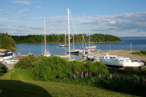 The boat harbour behind the Inverary Inn, Baddeck - Credit Photo Nova Scotia Tourism