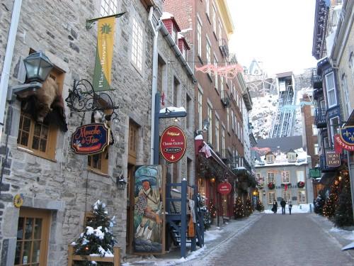 Petit Champlain à Québec - Crédit photo Ministère du Tourisme du Québec, Peter Helm