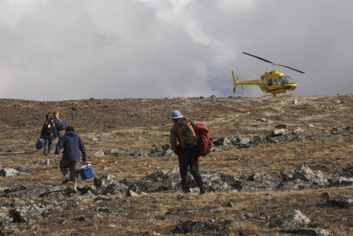 Heli-hiking - Crédit photo Government of Yukon