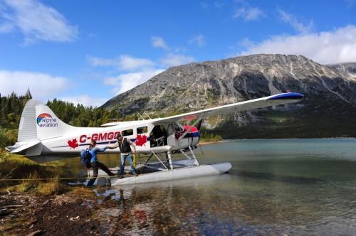 Hydravion à Lake Bennett- Crédit photo Government of Yukon